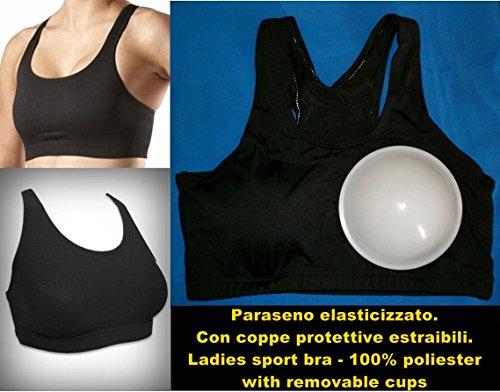 paraseno body elasticizzato licra pallavolo boxe mma (Large (4° -5°)