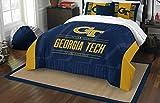 NORTHWEST NCAA Georgia Tech Yellow Jackets Comforter and Sham Set, Full/Queen, Modern Take