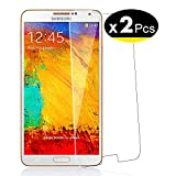 NEW'C Lot de 2, Verre Trempé pour Samsung Galaxy Note 3 Film Protection écran - Anti Rayures - sans Bulles d'air -Ultra Résistant (0,33mm HD Ultra Transparent) Dureté 9H Glass