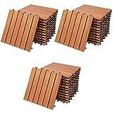 Deuba Set de 33 baldosas 'Clásicas' de madera de Eucalipto...