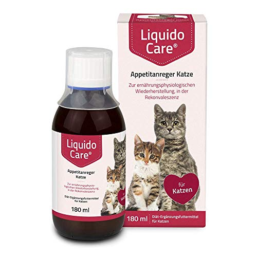 LiquidoCare Appetitanreger Katze 180 ml/Zur ernährungsphysiologischen Wiederherstellung, in der Rekonvaleszenz und bei hepatischer Lipidose der Katze
