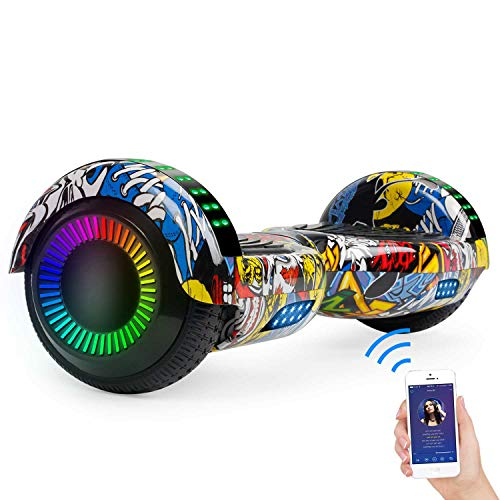 SISIGAD Hoverboard Self Balancing Scooter 6.5' Two-Wheel Self Balancing...