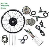 De ruedas eléctrica conversión de la bicicleta Kit 48V 250W traseras giran con motor para KT LED900S Mostrar ebike kit eléctrico de la bicicleta delante de la rueda Kit de conversión,20inch LED Sets