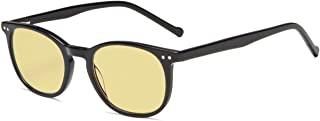Eyekepper Blue Light Blocking Computer Reading Glasses-Yellow Tinted Lens Readers (Black Acetate Frame, 2.00)