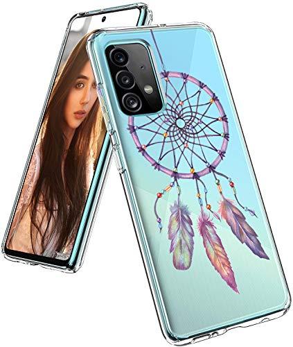 Compatible con Samsung Galaxy A52, funda original transparente flexible de silicona con patrón de animales Galaxy A52, funda fina y fina, 360 grados, antigolpes, carcasa protectora para Samsung A52