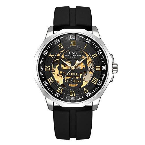 ZCFDQI Mirar Reloj Masculino Reloj De Pulsera Mecánico Masculino Relojes De Esqueleto Marca SAS Reloj De Pulsera Shark Reloj Masculinocomo La Imagen6