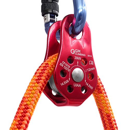 GM CLIMBING 29kN UIAA Certified Micro Pulley Slack Tender for Hitch Tending Single Unit