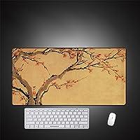 LL-COEUR 梅の花 大型マウスパッド キーボード ゲーミング オフィス テーブルマット が良い 滑り止めゴム底 (4)