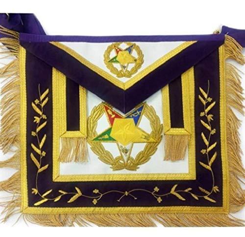 Regalia Lodge Order of The Eastern Star OES Grand Associate Patron Masonic Apron (Royal Blue, Lambskin)