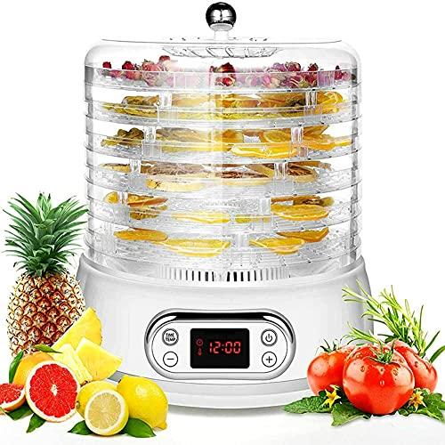 Wxnnx Disidratatore Elettrico per Alimenti 5 vassoi Macchina per la conservazione della Carne di Carne di Frutta e Verdura con Timer e Controllo della Temperatura Regolabile,B