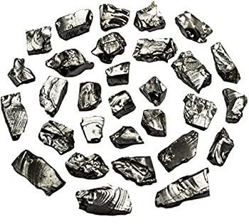 Wallystone Gems Elite Noble Shungite Stones Silver Bulk Lot Natural 30 pcs 1-4g for Water & Jewelry Making from Russia