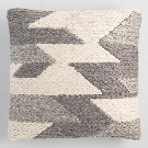 Gray Abstract Woven Indoor Outdoor Throw Pillow | World Market