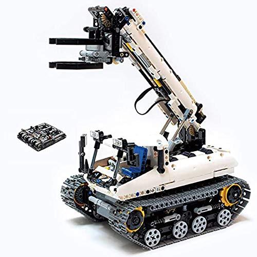 WXX 873PCS es Compatible con de niños Que construyen el Juguete Modelo de Bloques de Lego eléctrico de Control Remoto de Camiones orugas Conjunto adorna la colección
