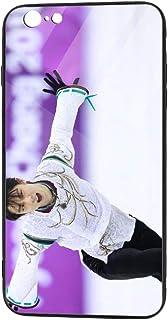 羽生結弦 はにゅう ゆづる Yuzuru HanyuIphone 6/6S Plus 携帯ケース スマホケース TPUガラス 個性的 背面ガラスカバー 耐衝撃 傷防止 全面保護 黄変防止