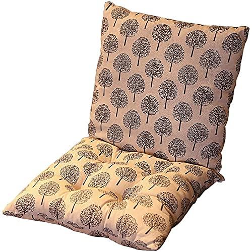 ZWPY Square Cushion Padded,Siamese Soft Seat Pad and Back Cushion,Low Back Cushion One-piece Seat Cushion (No chair), 40 x 80cm