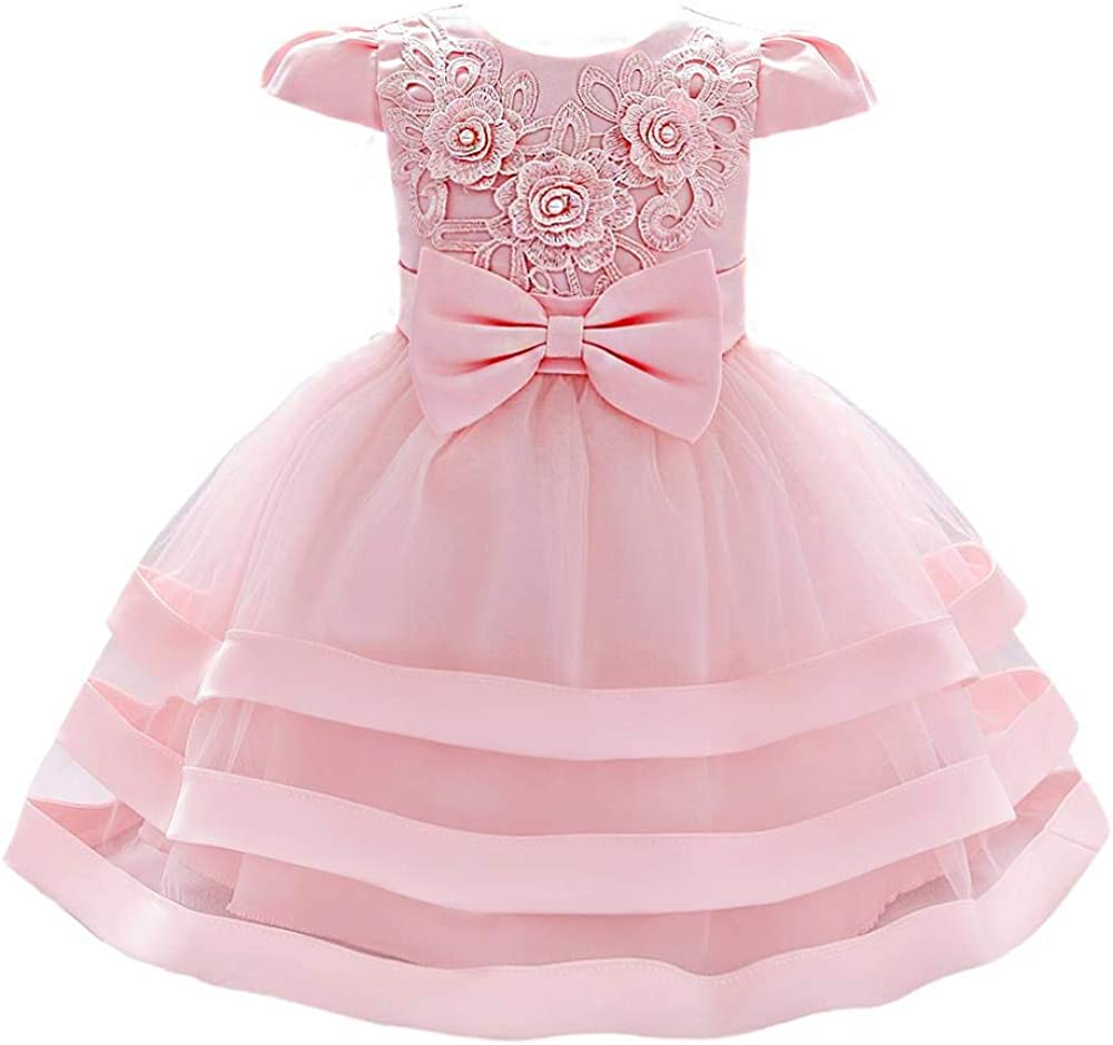Dressy Daisy Baby Flower Girls Dresses Special Occasion Wedding Birthday Party Fancy Tiered Gown