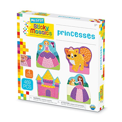 Orb The Factory Sticky Mosaics My First Princesses Arts & Crafts, Purple/Pink/Yellow/Blue, 9.5' x 1.5' x 9.5'