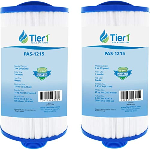Tier1 Pool & Spa Filter Replacement for Dream Maker, PDM25 - With Interchangeable Bottom Fitting - Pleated Water Filter to Reduce Water Contaminants - 2 Pack