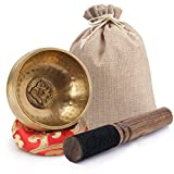 DomeStar Tibetan Singing Bowl Set 3 Inch Sound Bowl Meditation Bowl