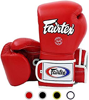 Fairtex Muay Thai Boxing Gloves BGV9 - Heavy Hitter Mexican Style - Minor Change Black Marina Blue 12 14 16 oz Training & Sparring Gloves for Kick Boxing MMA K1