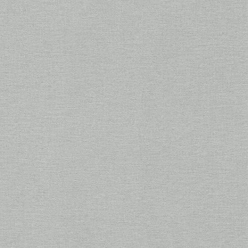 rasch Tapete 449822 aus der Kollektion Florentine II – Einfarbige Vliestapete in Grau – 10,05m x 53cm (L x B)
