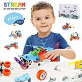 LAYKEN STEM Learning Toys for 6-12 Years Old Boys&Girls, Educational Engineering Construction Toy Set, DIY Building Models(5in1) Toy Kit, Building Blocks Toys, Creative STEM Toy Gift for Kids