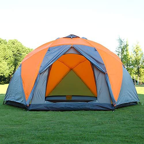 Zelte 10-Personen-ultralarge-campingzelt Im Freien , 3-türiges Mongolisches Sechseckiges Jurtenzelt Mit Zwei Schichten Für Picknickpartys Mit Großen Familienreisen