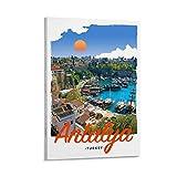 Antalya Türkei Poster Prints Retro Reise Leinwand Bilder