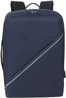 Backpack Daypack Shoulder School Bag Laptop BagMochila para hombres - Moda Viajes de negocios al aire libre Mochila informal Mochila para laptop liviana Impermeable Negro Azul