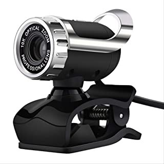 PC Webcam Webcam with Micro High Definition Web Cam 360 Degrees Clip-on Camera for Skype Computer YouTube Pc Laptop Window...
