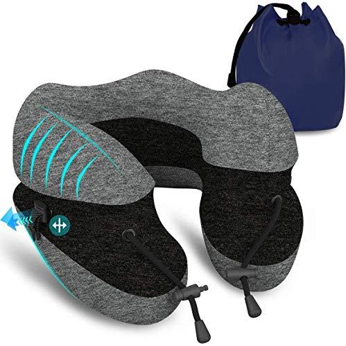 Upgrade Travel Pillow 100% Pure Memory Foam Neck Pillow | Support Head Soft Comfortable Pillow |...