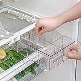 Organizador para cajones frigoríficos, cajón portaobjetos frigoríficos, caja de almacenamiento transparente de pequeñas dimensiones, apto para divisores de 12 a 14 'Frigorifico (Vano 1/4/8'