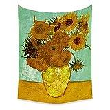 Paisaje hojas y flores colgante de pared hogar habitación arte decoración pared hippie alfombra fondo abstracto tela A5 130x150 cm