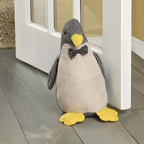 Elements 5218412 Decorative Polyester Door Stop, 10', Gray Penquin