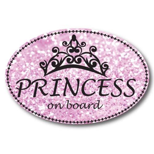 Princess On Board Oval Car Magnet Heavy Duty Waterproof