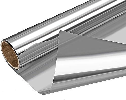 Arthome Película para Ventana Privacidad Espejo Una Direccion Anti-UV Rayos Sin Pegamento Estática No Tóxico 60x460cm