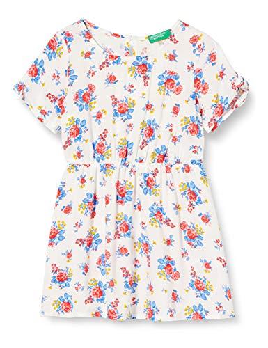 United Colors of Benetton Baby-Mädchen Vestito Kleid, Weiß (Tawny Port 69q), 80/86 (Herstellergröße: 1y)