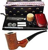 Fumar tabaco Pipe Set, creativo 9 mm Tubo Filtros de tabaco de pipa del palo de rosa con el tubo de limpieza, raspador, Bits de tubos, bolas de metal, golpeadores de corcho, Bono Un Tubo bolsa con caj
