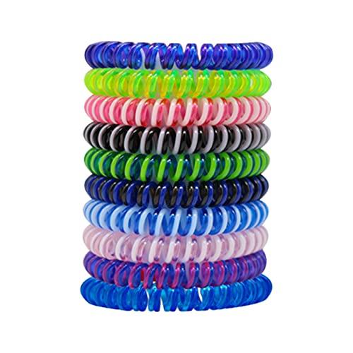 laoonl 10 pulseras coloridas en espiral EVA, multiusos, duraderas y portátiles, para niños y adultos