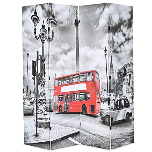 VidaXL Biombo Divisor Plegable 160x170 cm Bus Londres