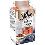 Sheba Délices du Jour – Nourriture humide pour chat adulte - sélection du boucher en sauce – Sachets fraîcheur 72 x 50g