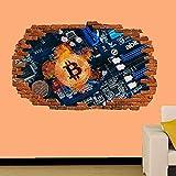 Etiqueta De La Pared Comercial Bitcoin Crypto Moneda Etiqueta De La Pared Mural Calcomanía Cartel