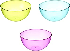 BESTONZON Plastic Fruit Bowl Salad Bowls Serving Bowl for Home Party Outdoor Picnics (Random Color)