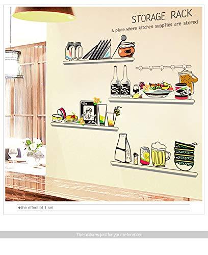 Cucina adesivi in PVC materiale fai da te cartone animato utensili da cucina cibo adesivo per casa armadio frigorifero piastrelle