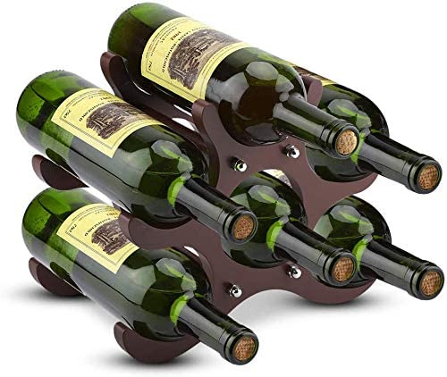 Cheap mail order specialty store 6 Bottle Wooden Red Over item handling Wine Rack St Pine Natural Standing Free