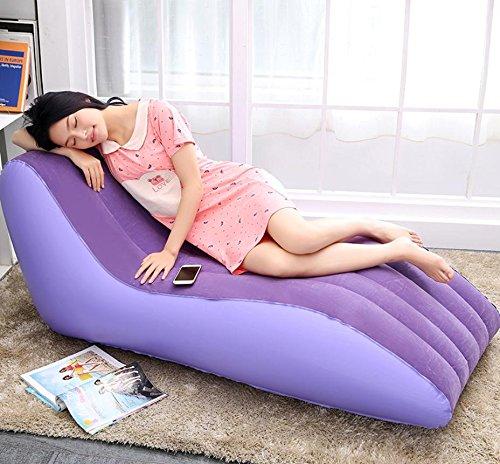 cczll lit matelassé acudieron canapé gonflable chaise canapé gonflable Lazy Chaise Gonflable Fauteuil pliable canapé lit 2