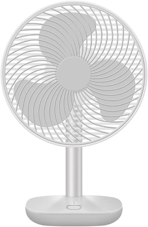 Desktop Fan Office Silent Ocean Wind Fan,White