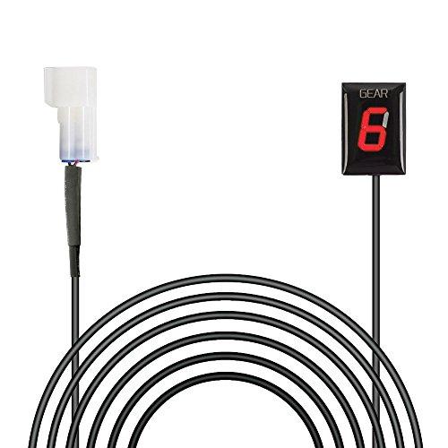 Ganganzeige Motorrad, IDEA wasserdichte 6 Speed LED Digital Display Schaltanzeige Schalthebel Plug & Play für Kawasaki