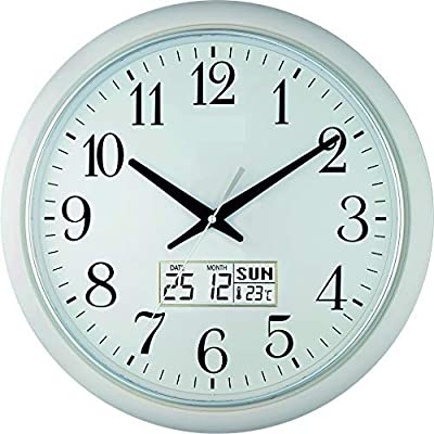 Sapphire Quartz Plastic Wall Clock (41.6 x 41.4 x 5.8 cm, White)