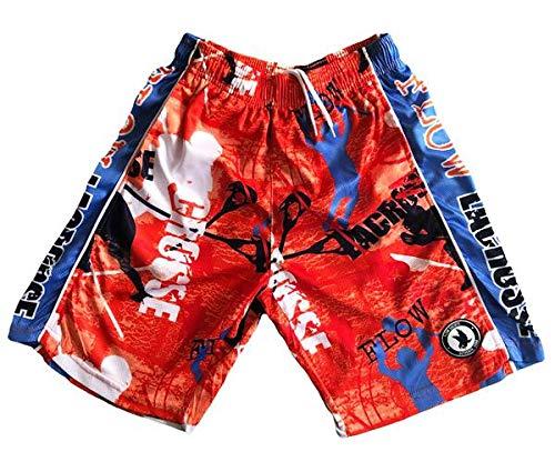Flow Society Boys Athletic Shorts - Boys Lacrosse Shorts - Gym Shorts Orange